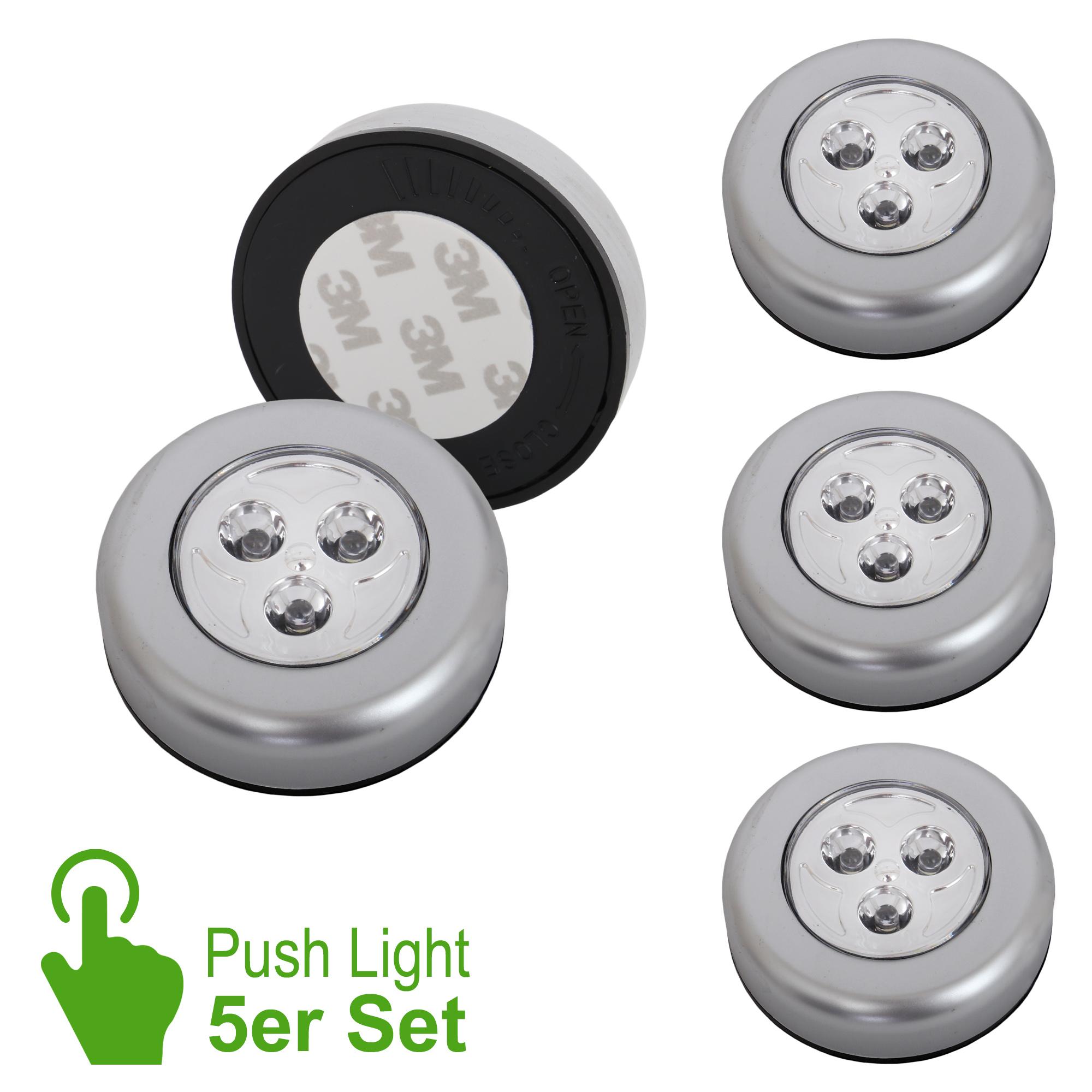 5er-Set LED Push Light Titan