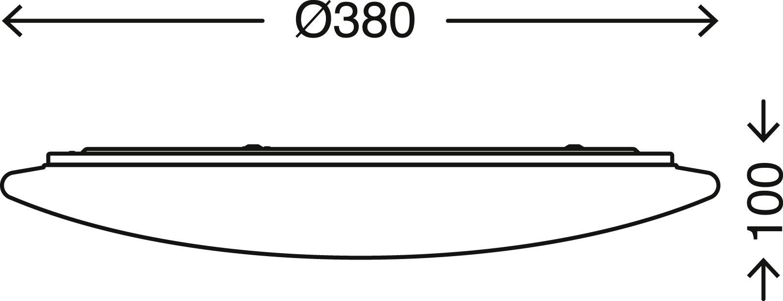 LED Deckenleuchte, Ø 38 cm, max. 40 W, Weiss