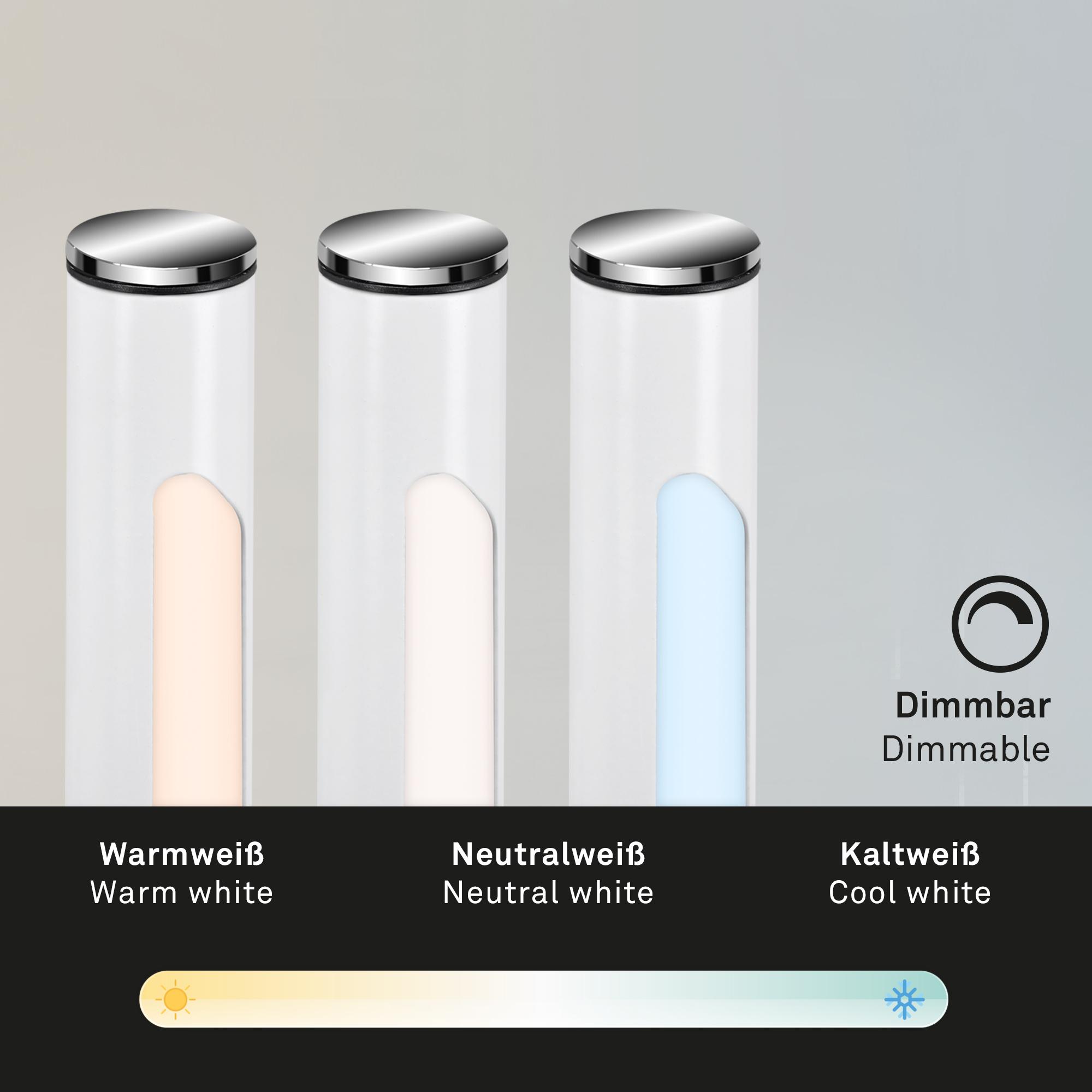 USB LED Wand- und Stehleuchte Weiß