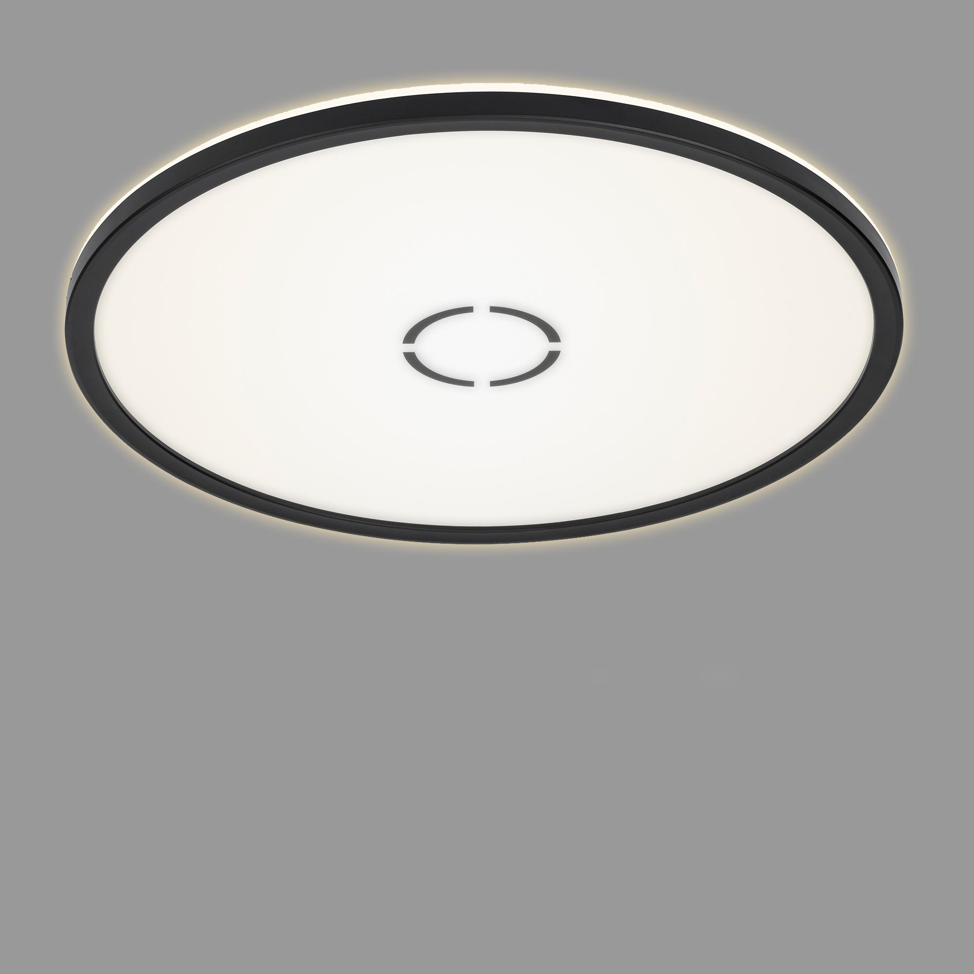 Slim LED Panel, Ø 42 cm, 3000 LUMEN, 22 WATT, Schwarz