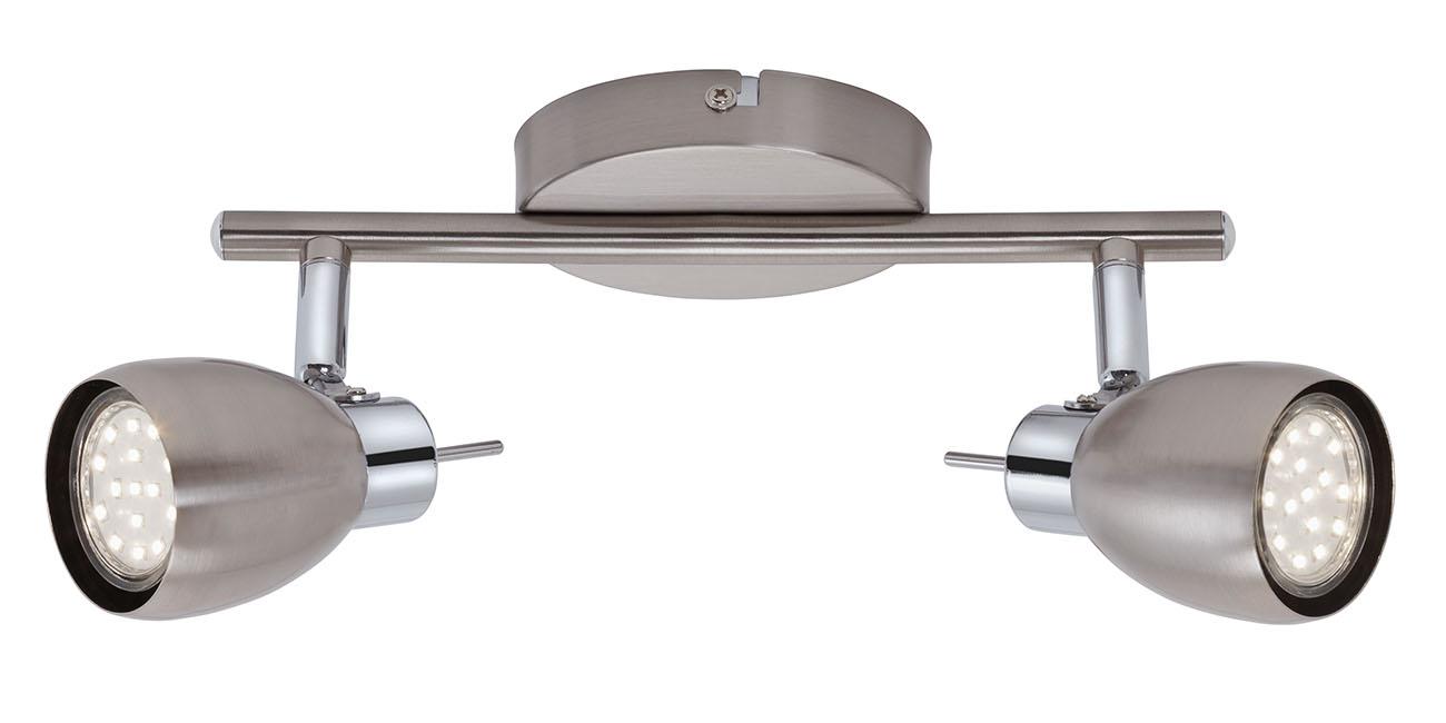 LED Spot Deckenleuchte, 25,5 cm, 6 W, Matt-Nickel