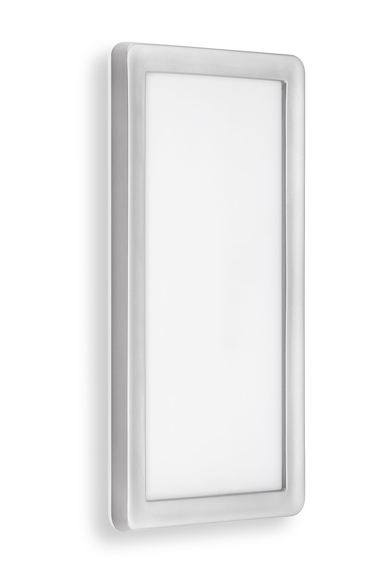 TELEFUNKEN LED Aussenwandleuchte, 28 cm, 16 W, Silber