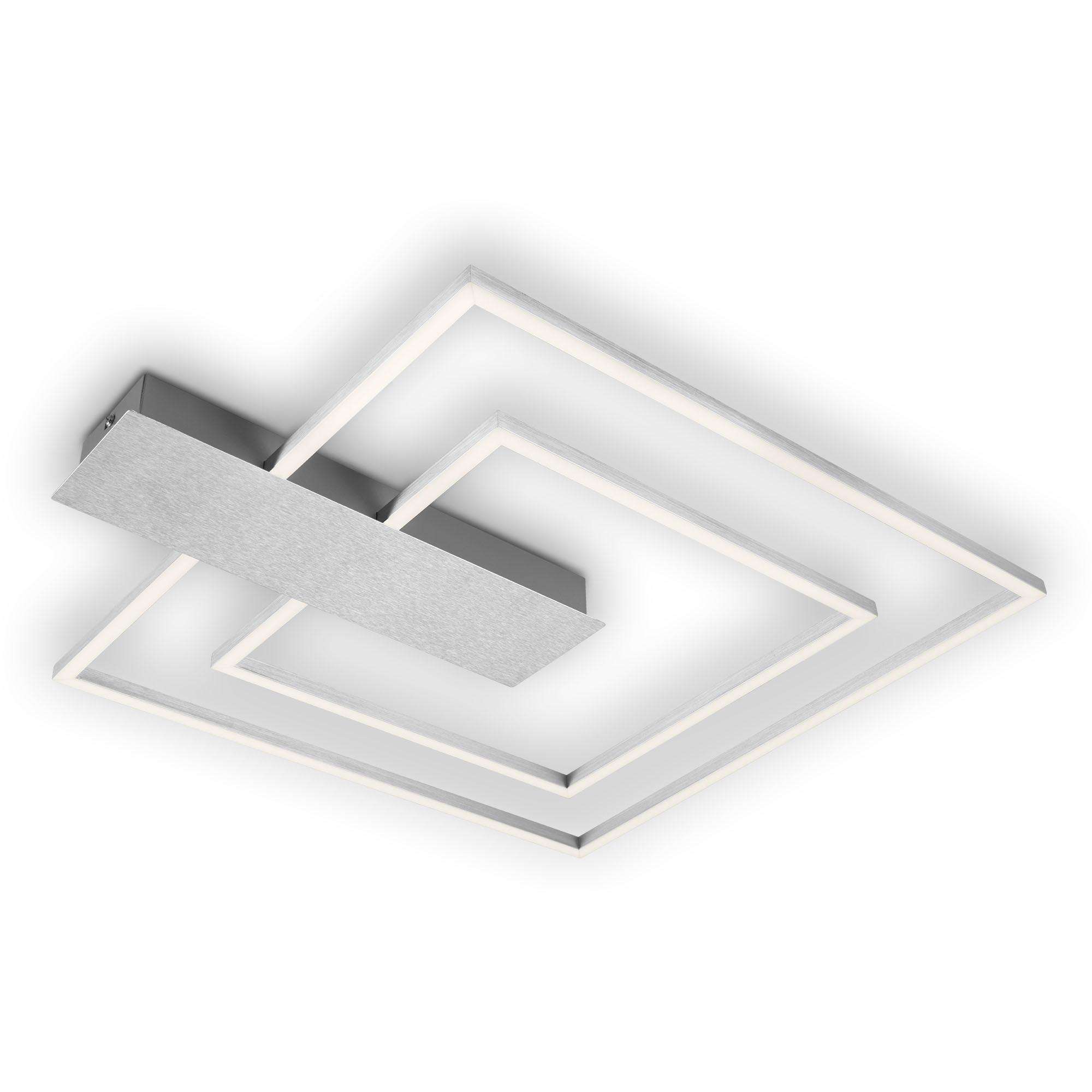 LED Deckenleuchte, 57 cm, 25 W, Alu-Chrom
