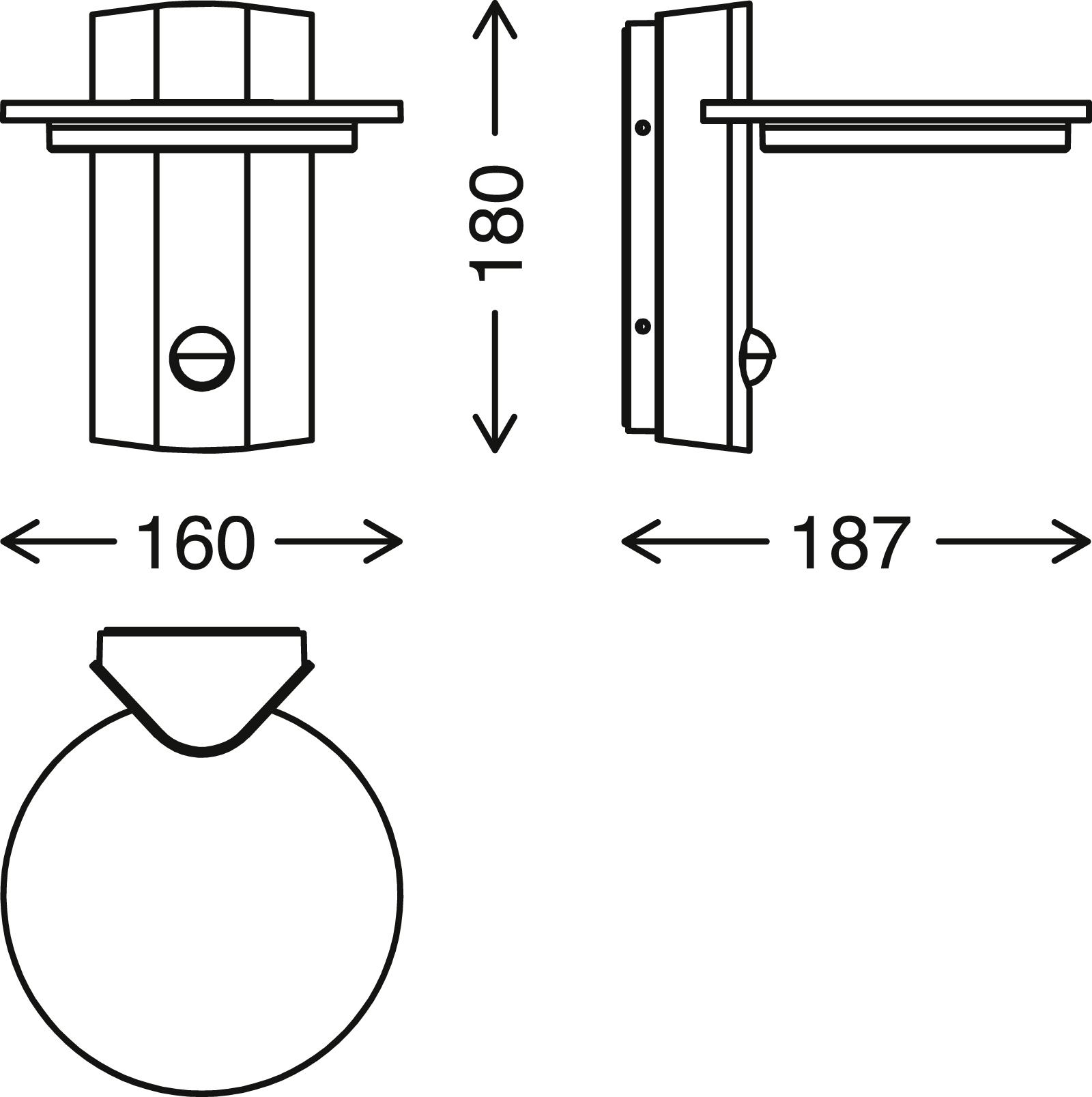 TELEFUNKEN LED Aussenwandleuchte, 18 cm, 10 W, Schwarz