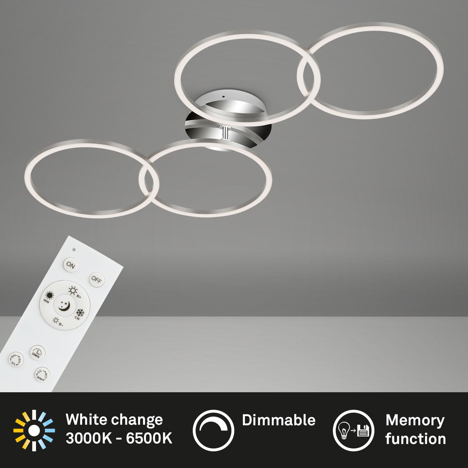 Frame CCT LED Deckenleuchte alufarbig-chrom