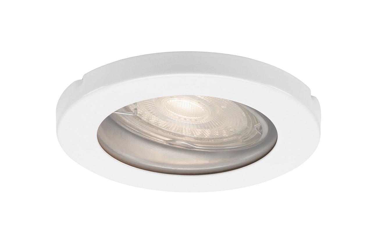 3er Set LED Einbauleuchte, Ø 8,5 cm, 5 W, Weiss