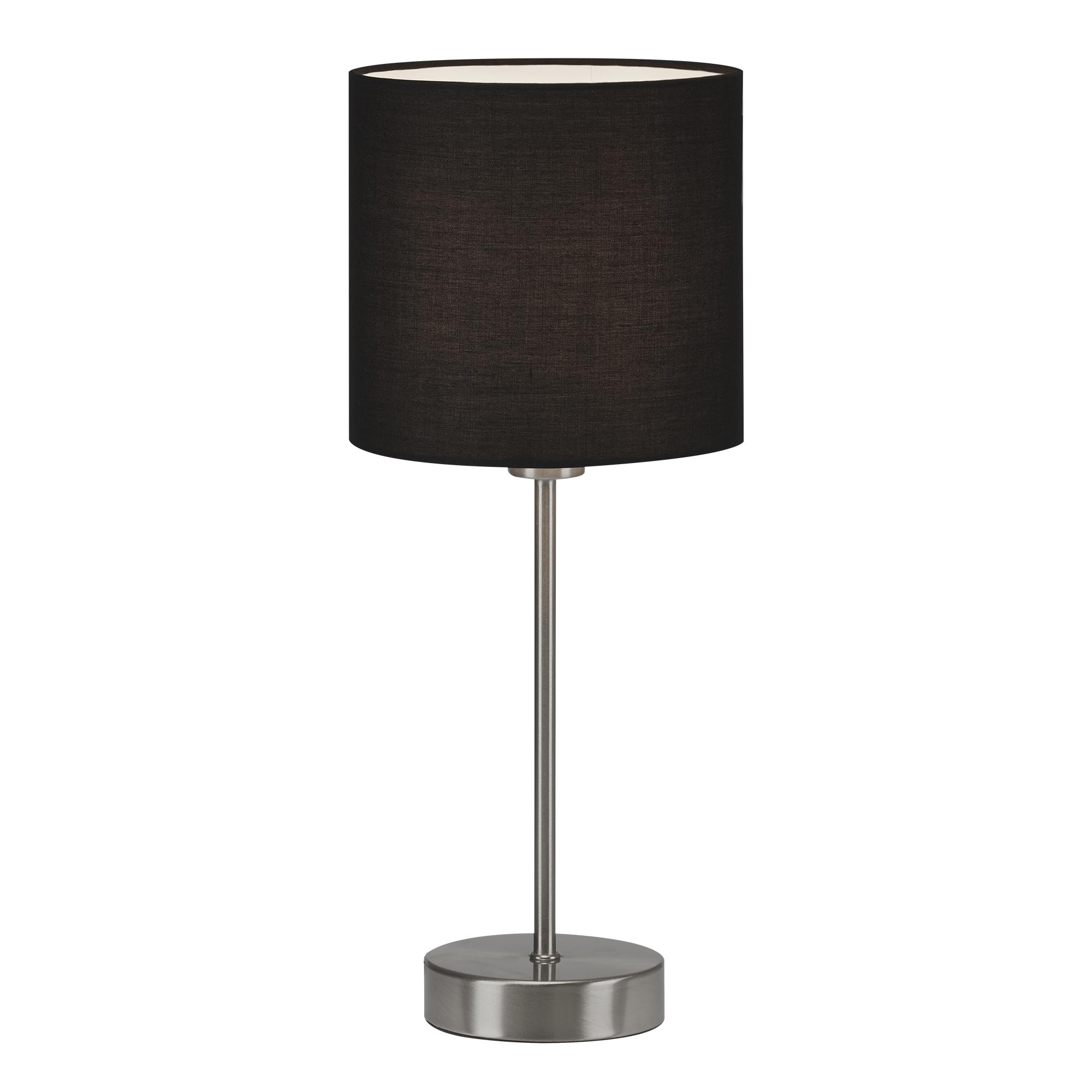 LED Tischleuchte, max. 25 W, 38,5 cm, Schwarz