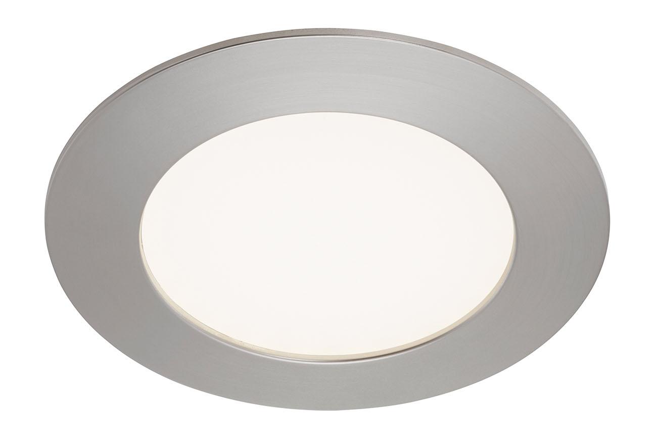 LED Einbauleuchte, Ø 12 cm, 6,4 W, Matt-Nickel
