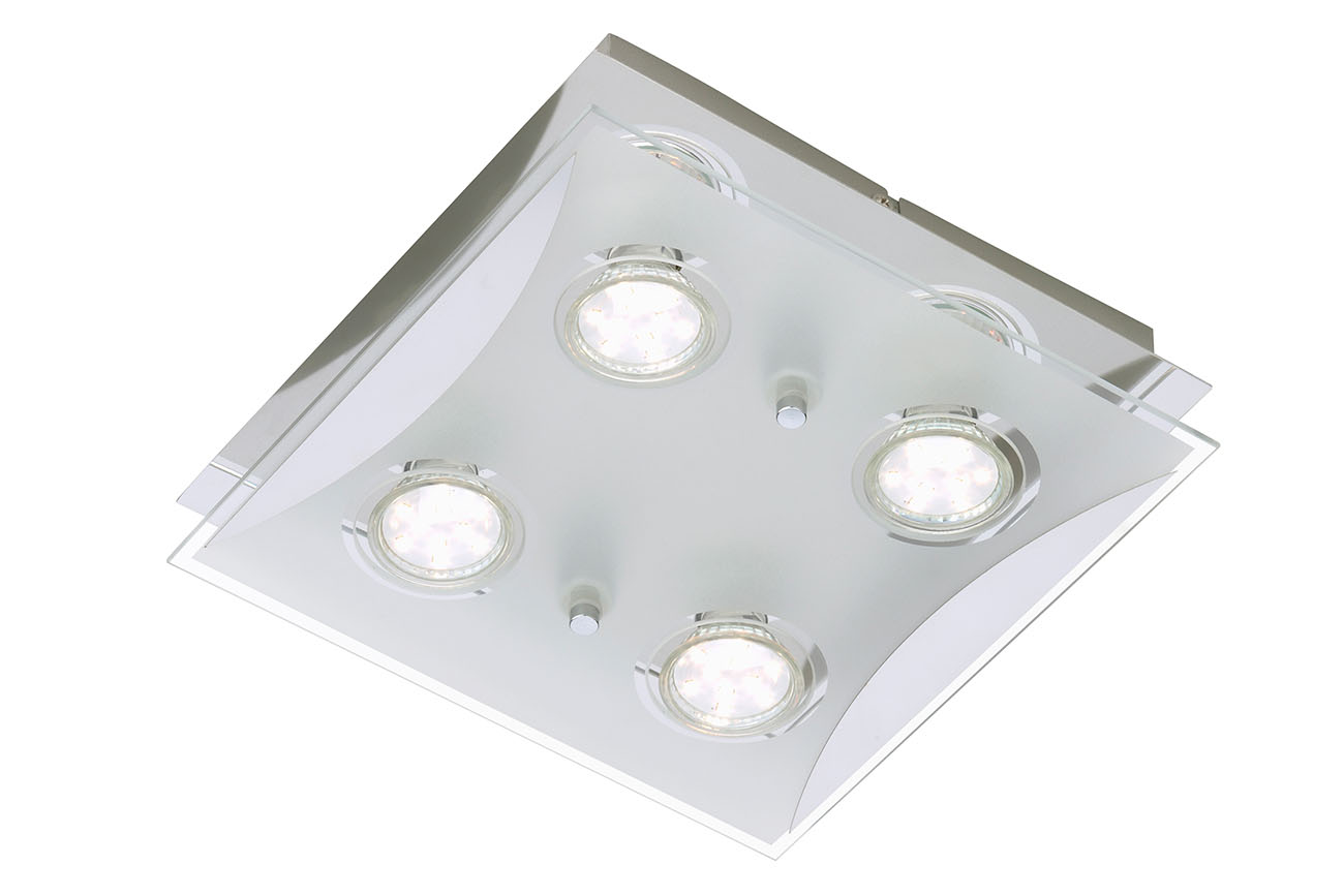 LED Spot Deckenleuchte, 25 cm, 12 W, Chrom