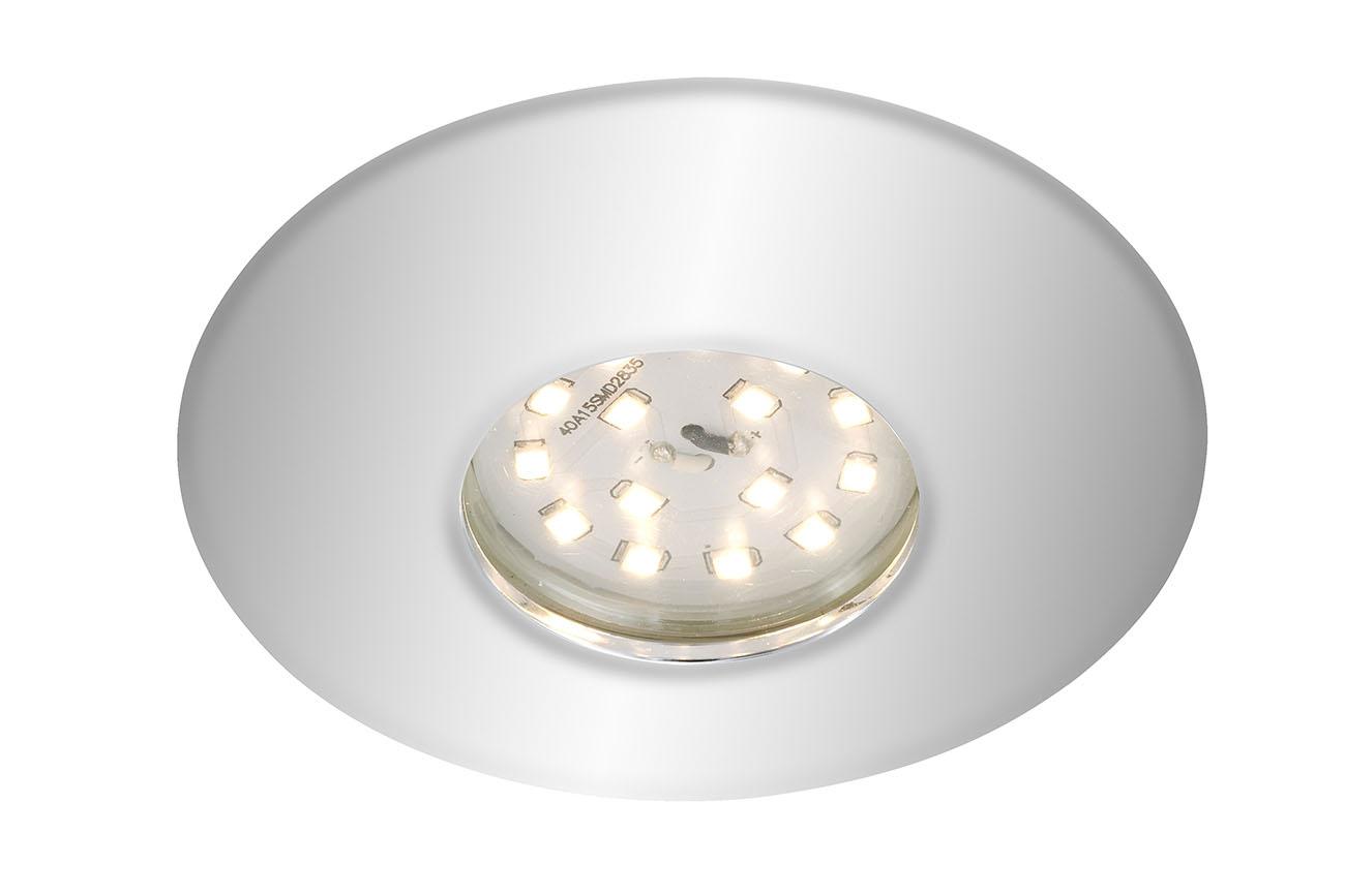 LED Einbauleuchte, Ø 9,3 cm, 5 W, Chrom
