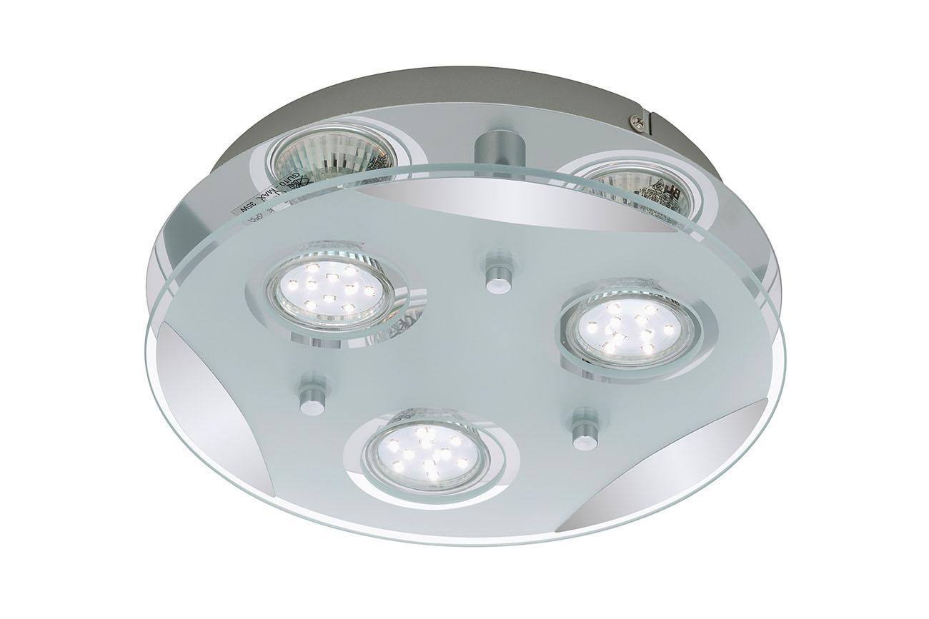 LED Spot Deckenleuchte, Ø 25 cm, 9 W, Chrom