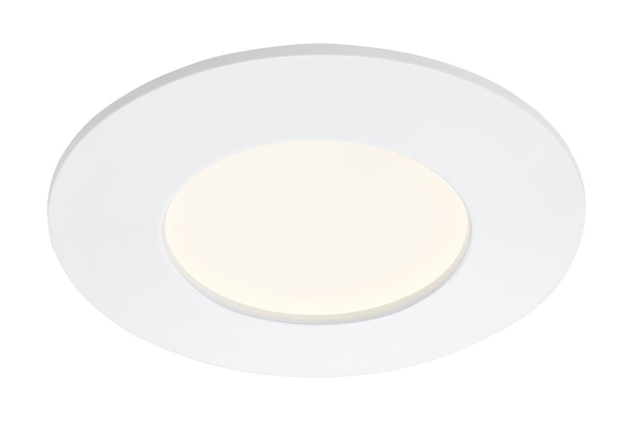 LED Einbauleuchte, Ø 8,5 cm, 6 W, Weiß