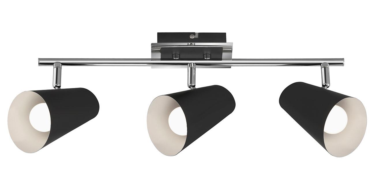 LED Spot Deckenleuchte, 48,5 cm, max. 40 W, Weiss-Schwarz