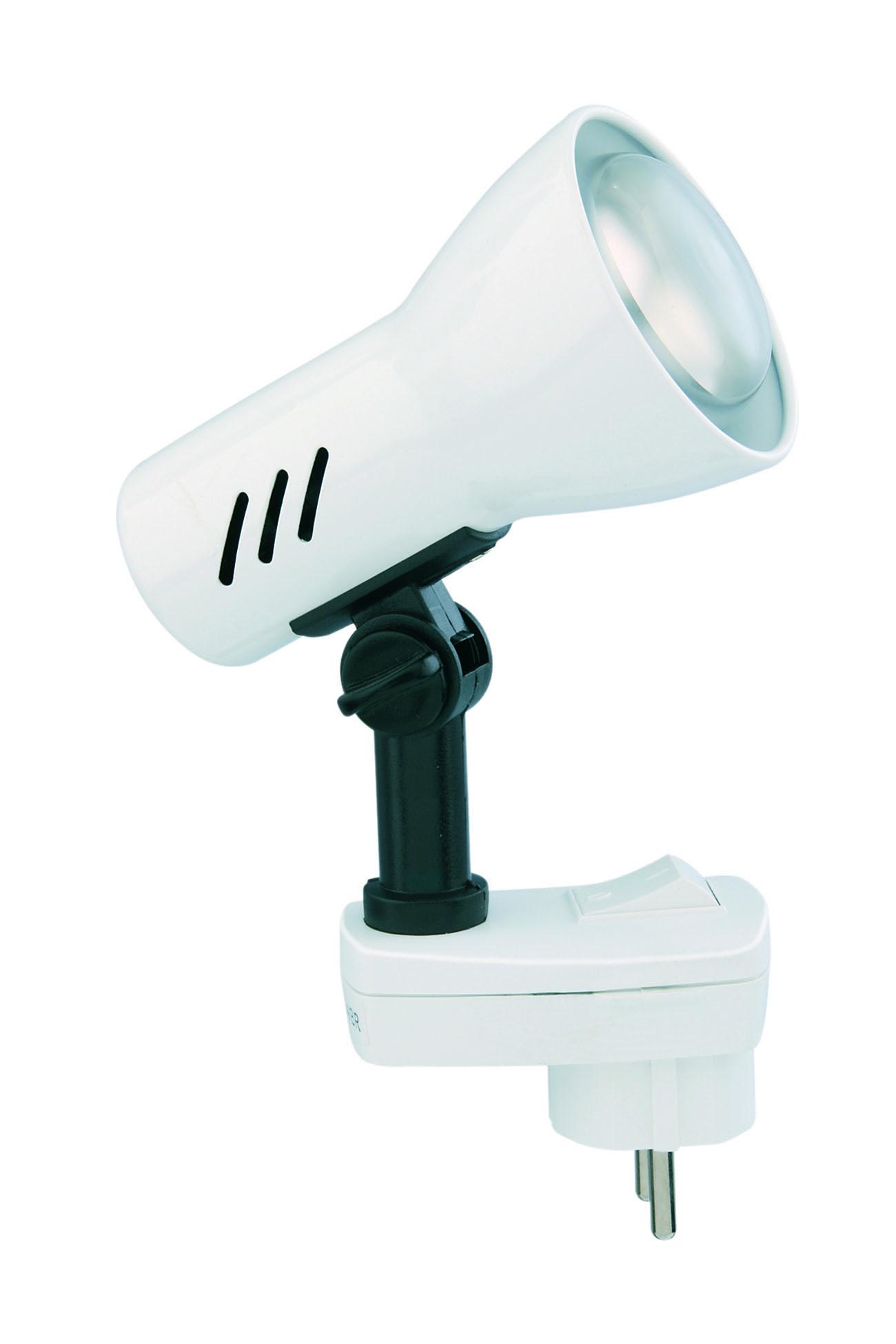 LED Steckerleuchte, 11,5 cm, max. 25 W, Weiss