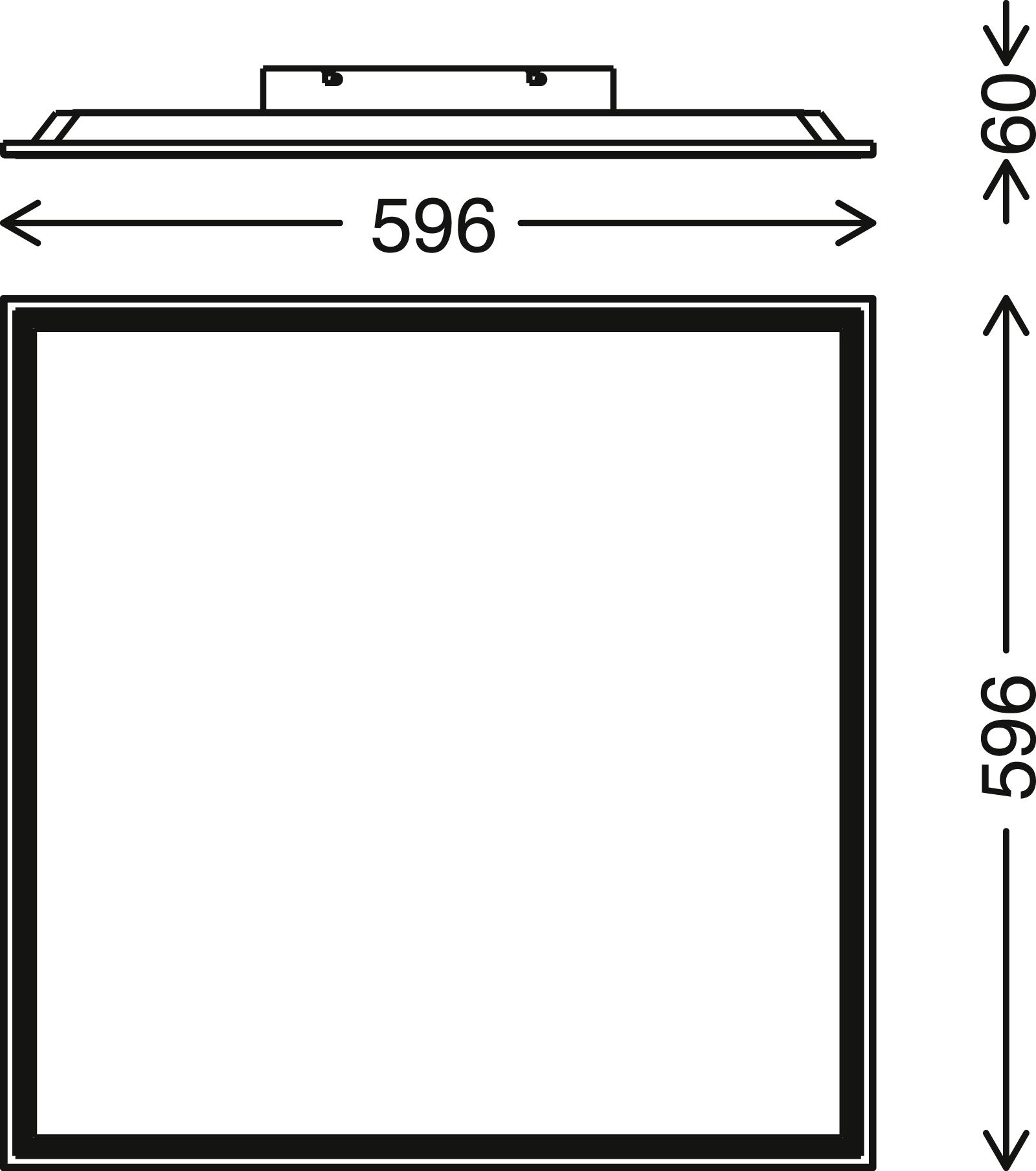 STERNENHIMMEL LED Panel, 45 cm, 2400 LUMEN, 24 WATT, Weiss