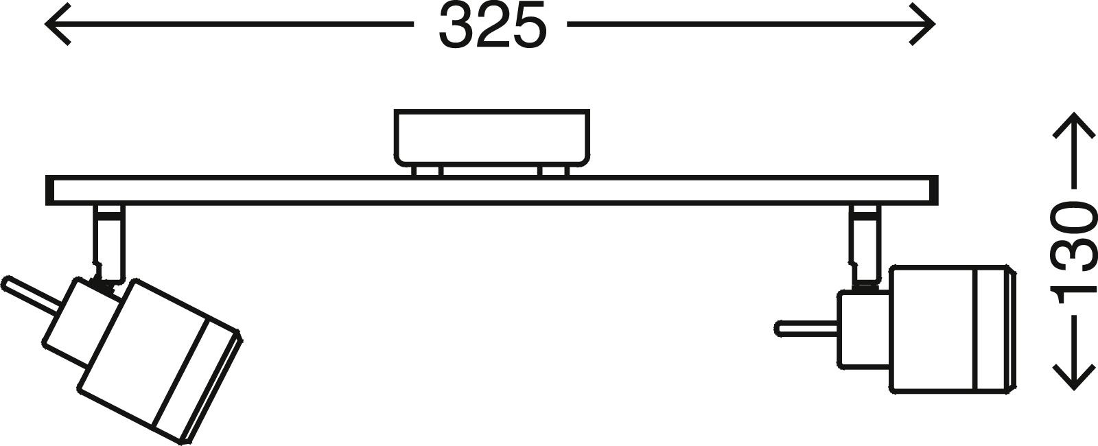 LED Spot Deckenleuchte, 32,5 cm, 8 W, Chrom