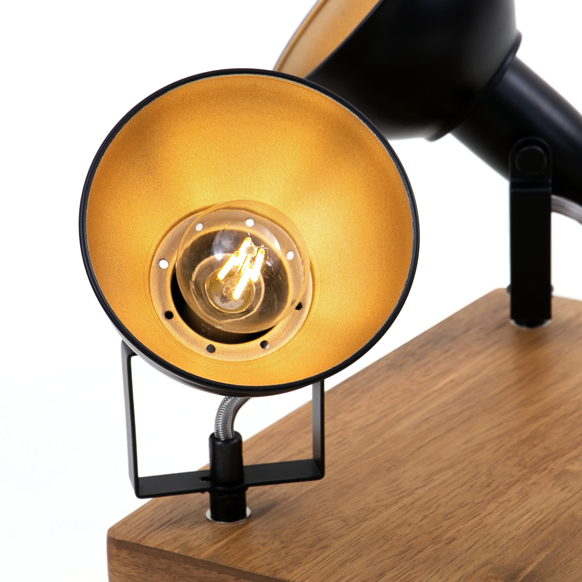 LED Spot Deckenleuchte, 28 cm, max. 25 W, Schwarz