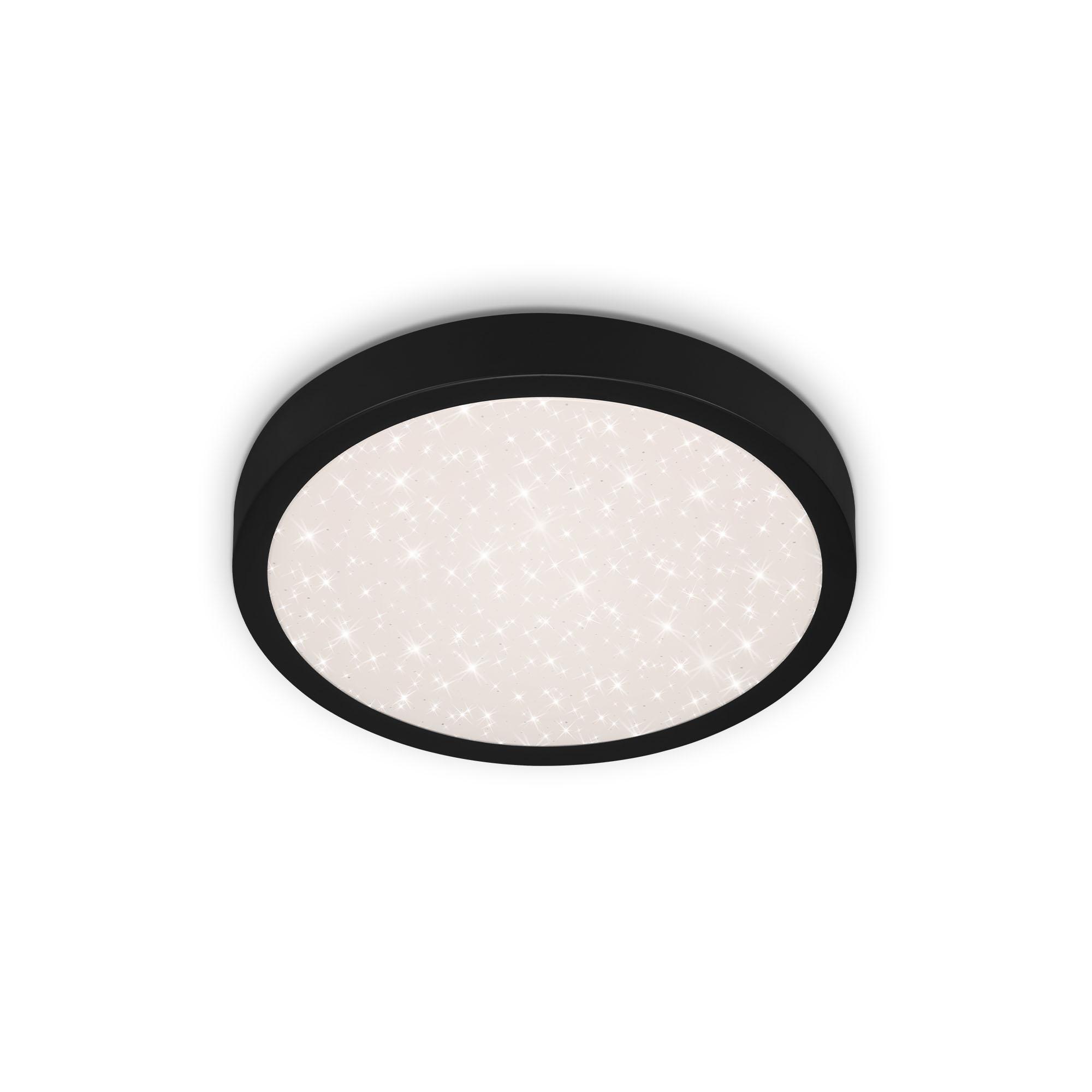 STERNENHIMMEL LED Deckenleuchte, Ø 28 cm, 18 W, Schwarz