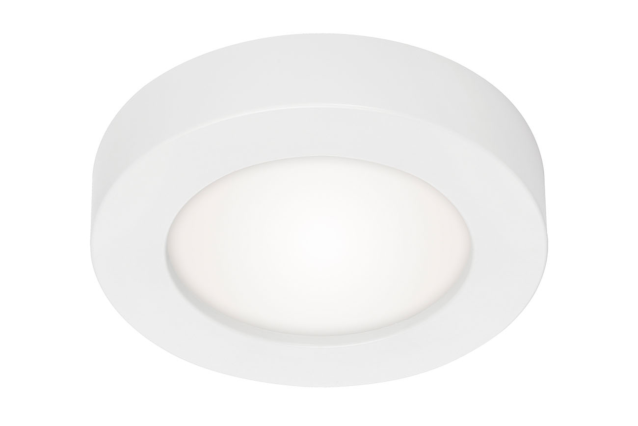 2in1 LED Auf- und Einbauleuchte, Ø 17,7 cm, 12 W, Weiß