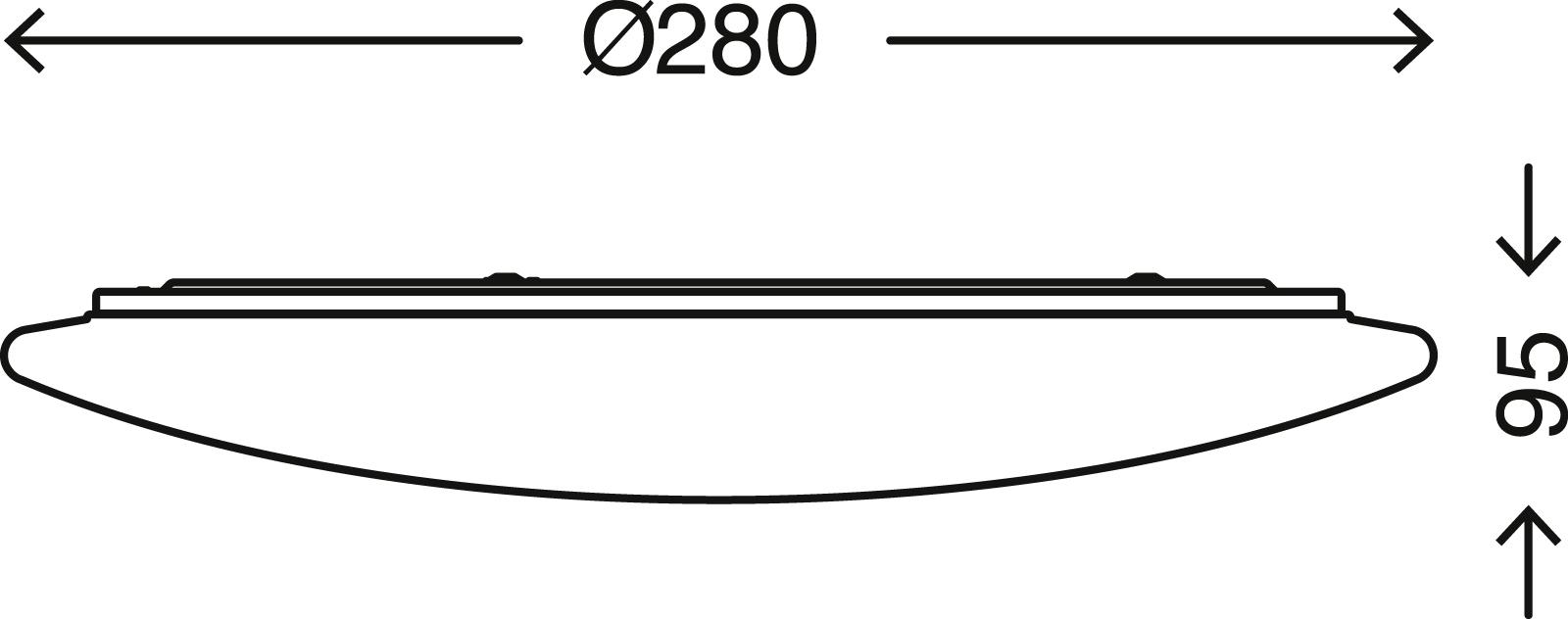 TELEFUNKEN Sensor LED Deckenleuchte, Ø 28 cm, 20 W, Weiss