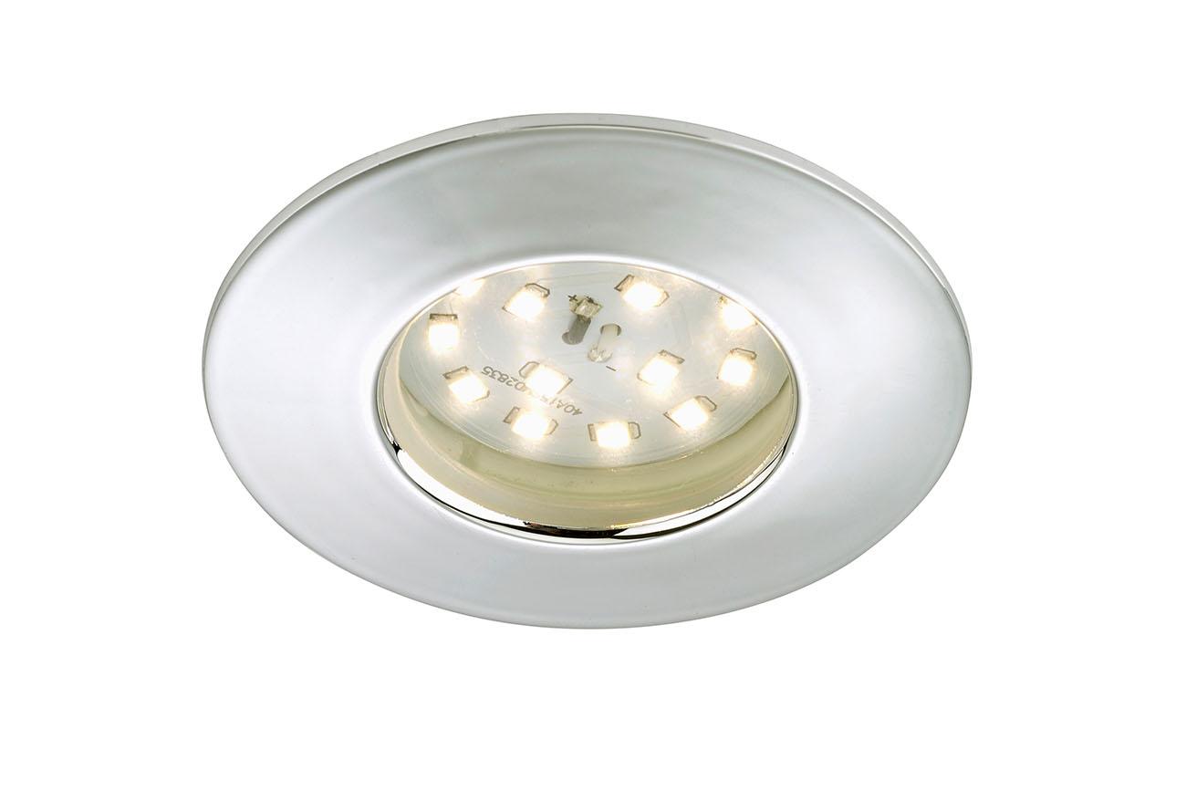 LED Einbauleuchte, Ø 7,5 cm, Chrom