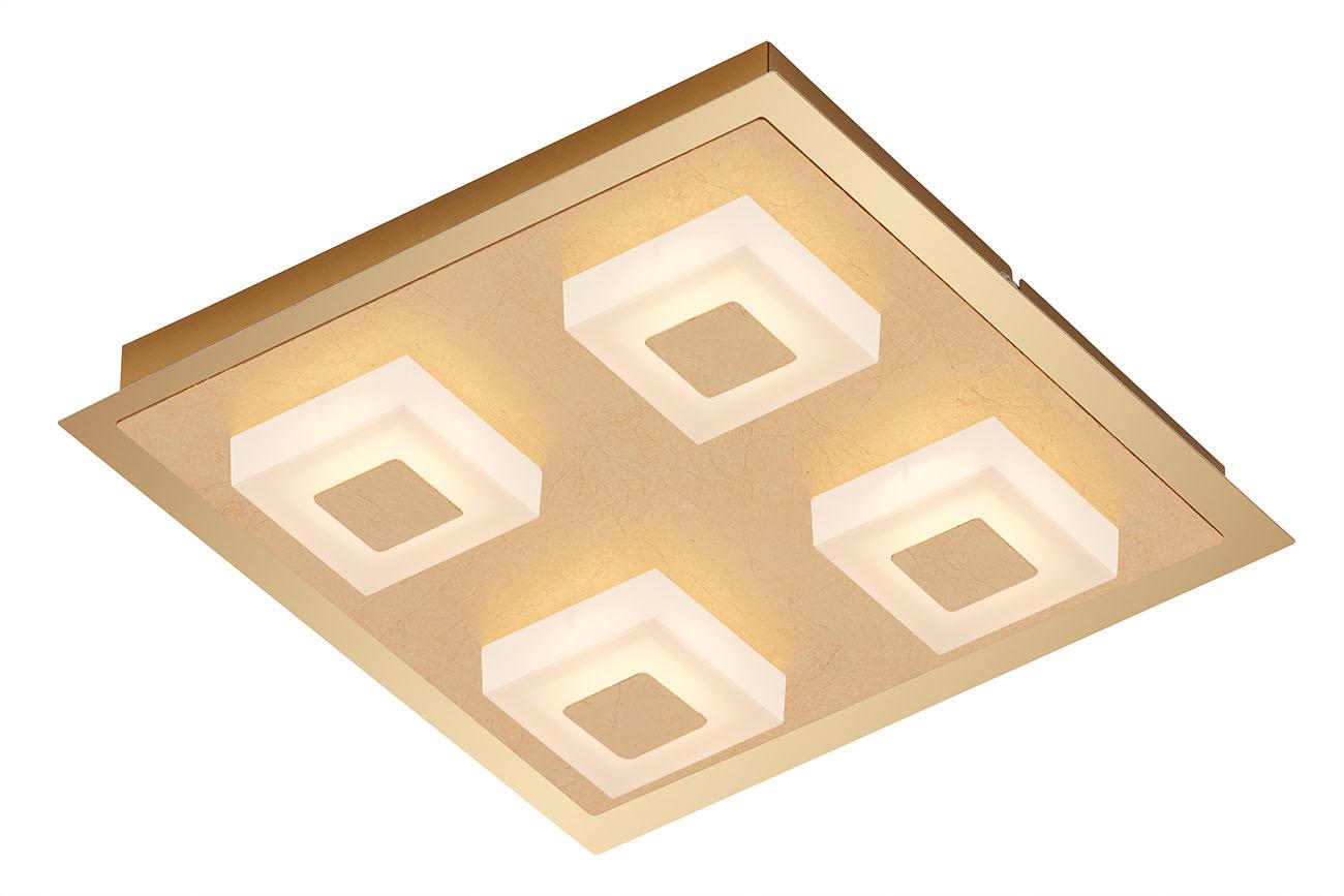 LED Deckenleuchte, 28 cm, 20 W, Gold