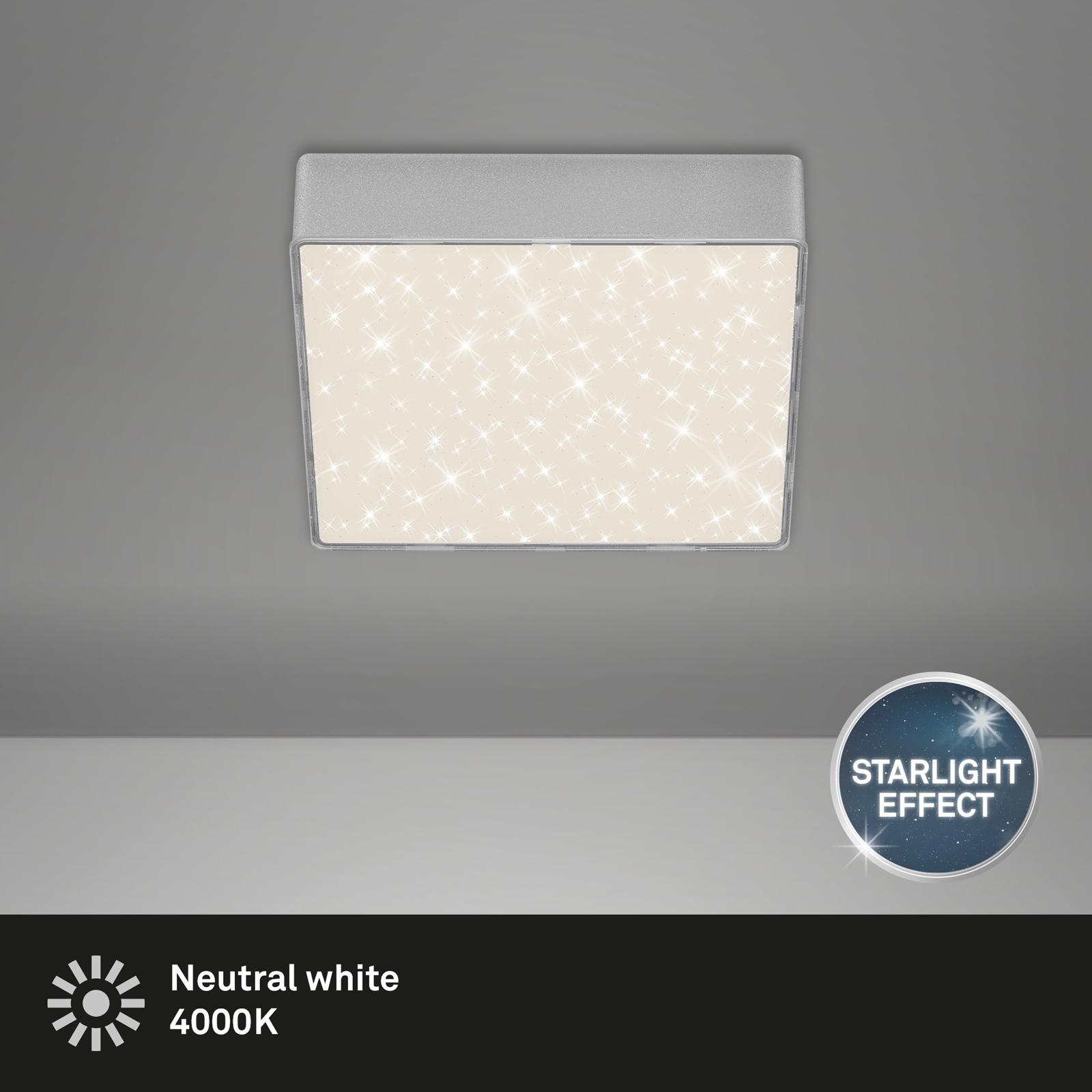 Sternenhimmel LED Deckenleuchte silber