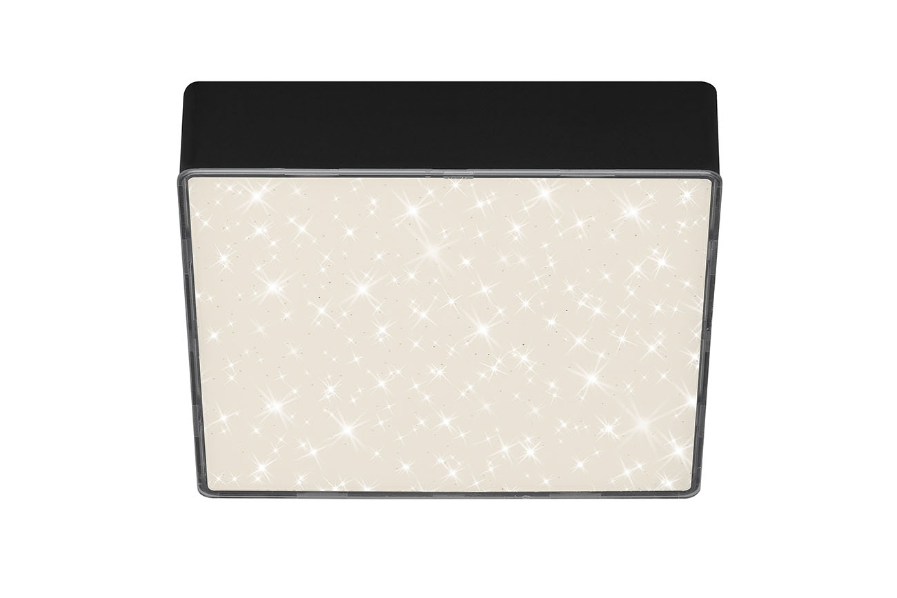 STERNENHIMMEL LED Deckenleuchte, 15,7 cm, 11 W, Schwarz