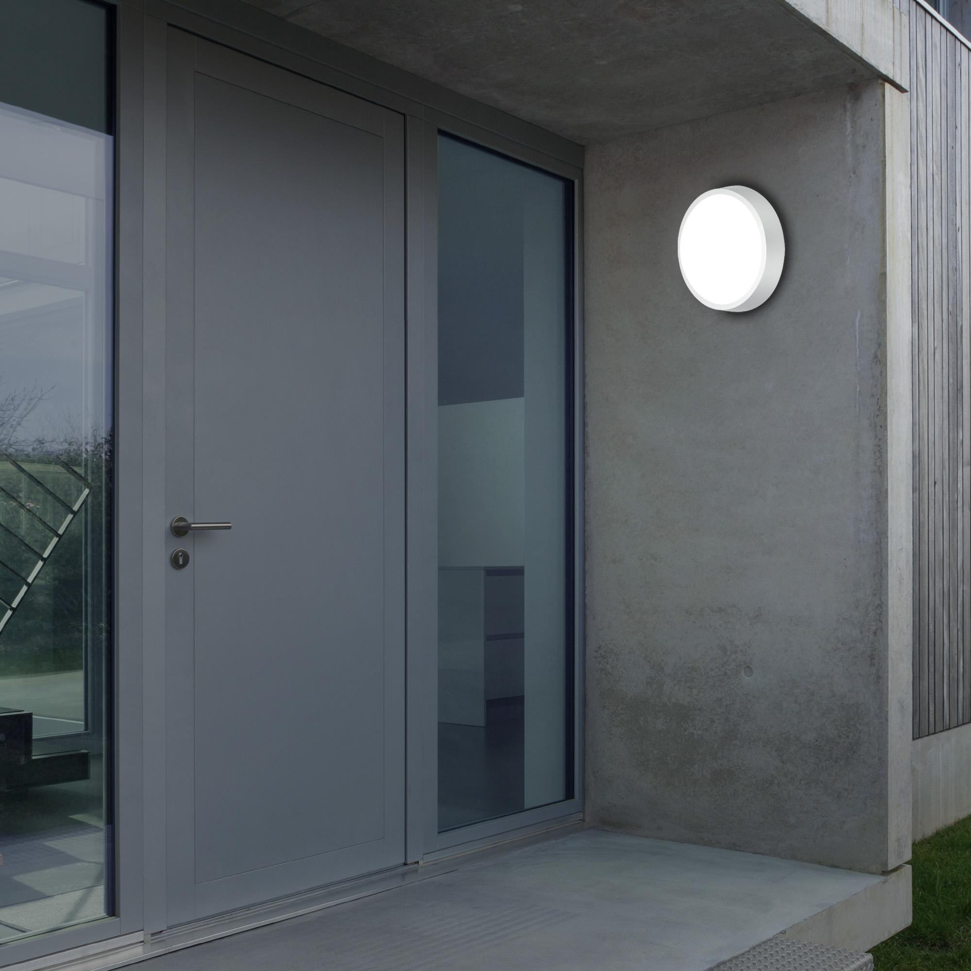 LED Außenleuchte Silber