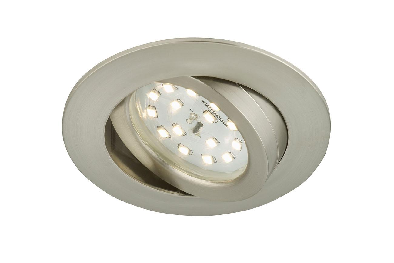 LED Einbauleuchte, Ø 8,2 cm, 5 W, Matt-Nickel