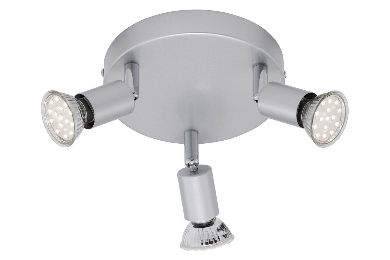 LED Spot Deckenleuchte, Ø 16 cm, 9 W, Titan