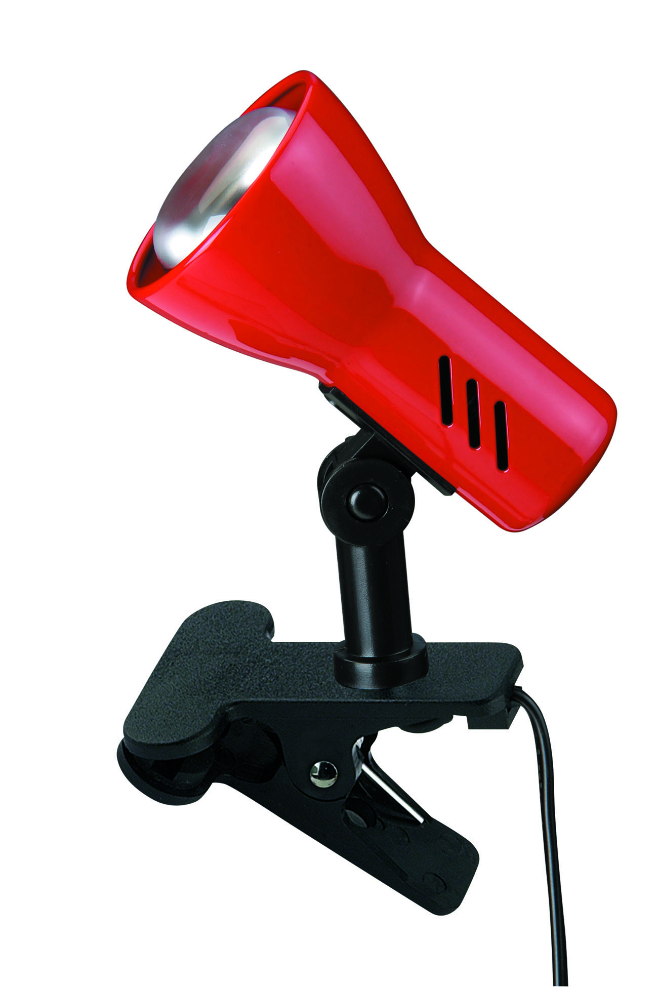 LED Klemmleuchte, 6,5 cm, max. 40 W, Rot