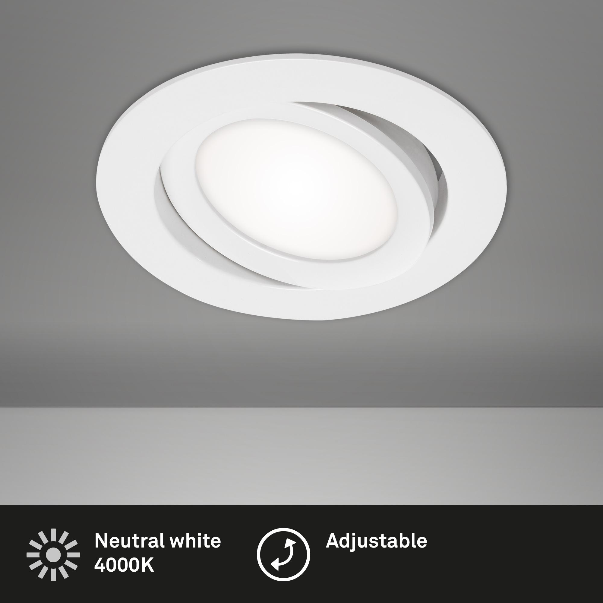LED Einbauleuchte, Ø 10,6 cm, 7 W, Weiß