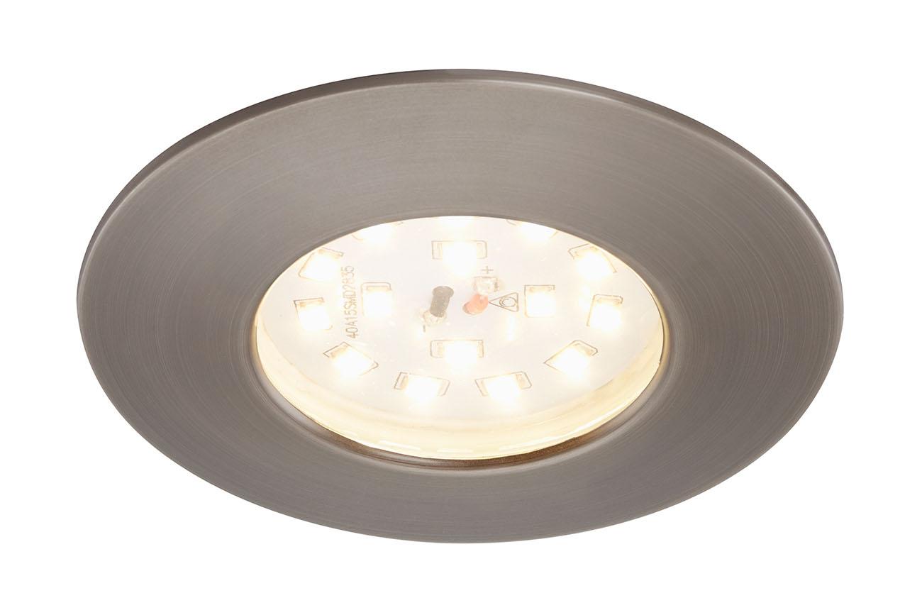 LED Einbauleuchte, Ø 7,5 cm, 5,5 W, Silber