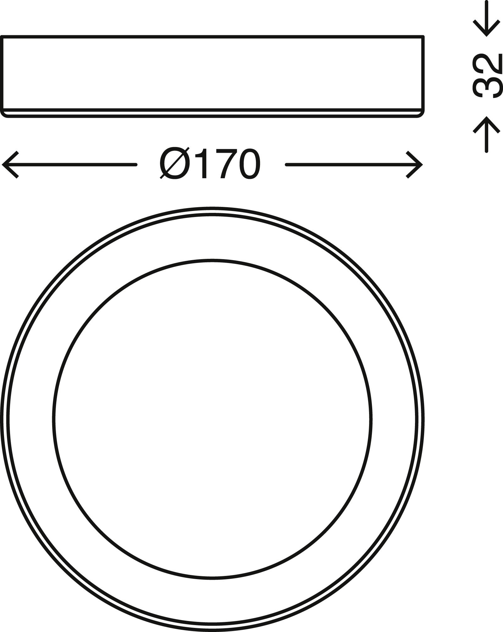 LED Deckenleuchte, Ø 17 cm, 12 W, Weiss