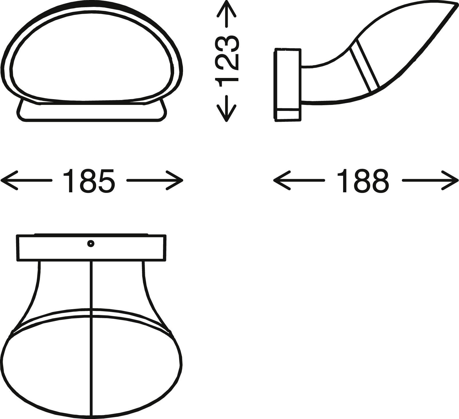 TELEFUNKEN LED Aussenwandleuchte, 18,5 cm, 10 W, Schwarz