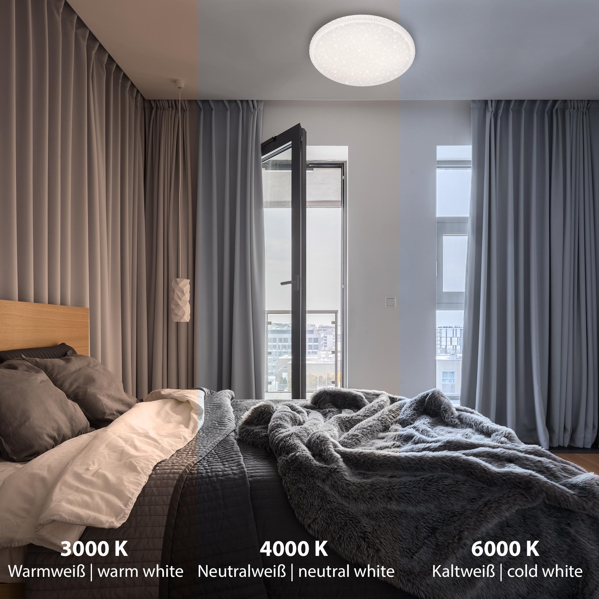 STERNENHIMMEL LED Deckenleuchte, Ø 59,5 cm, 48 W, Weiss