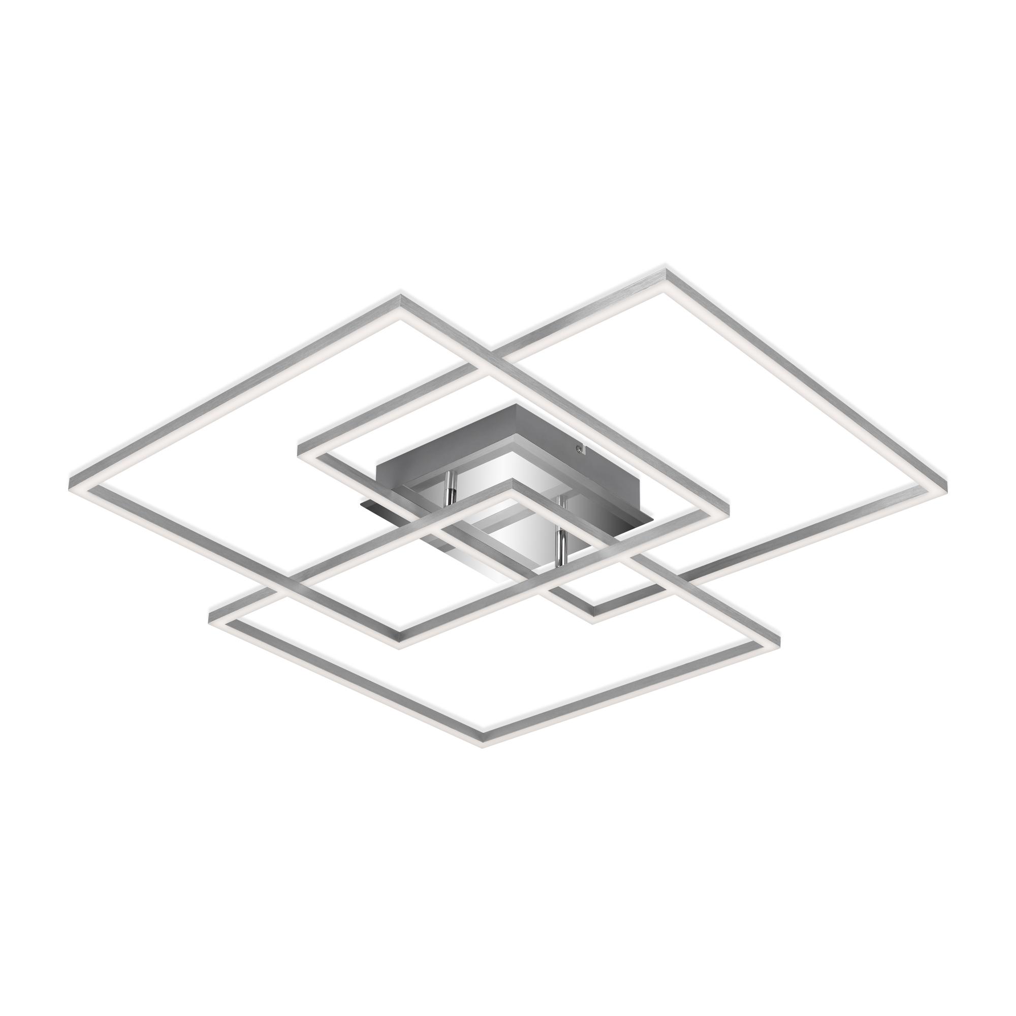 CCT LED Deckenleuchte, 70,3 cm, 4800 LM, 55 W, Alu
