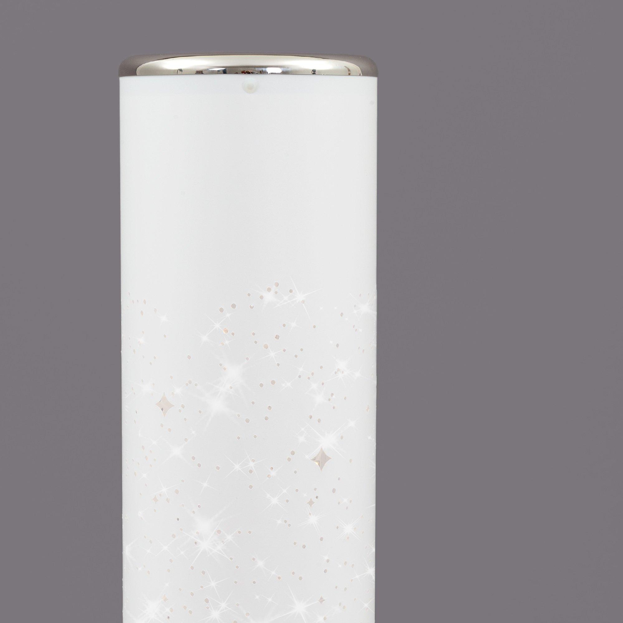 STERNENHIMMEL LED Stehleuchte Weiß-Chrom