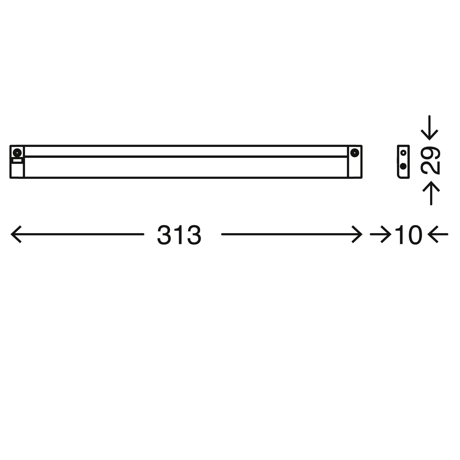 TELEFUNKEN LED Unterbauleuchte, 31,3 cm, 4 W, Silber