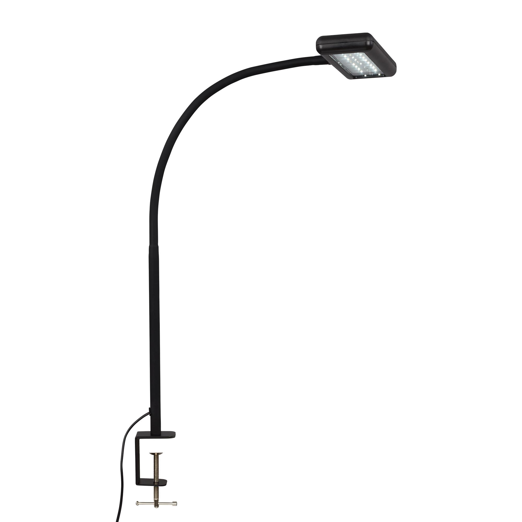 LED Tageslicht Klemmleuchte, 55 cm, 7,5 W, Schwarz