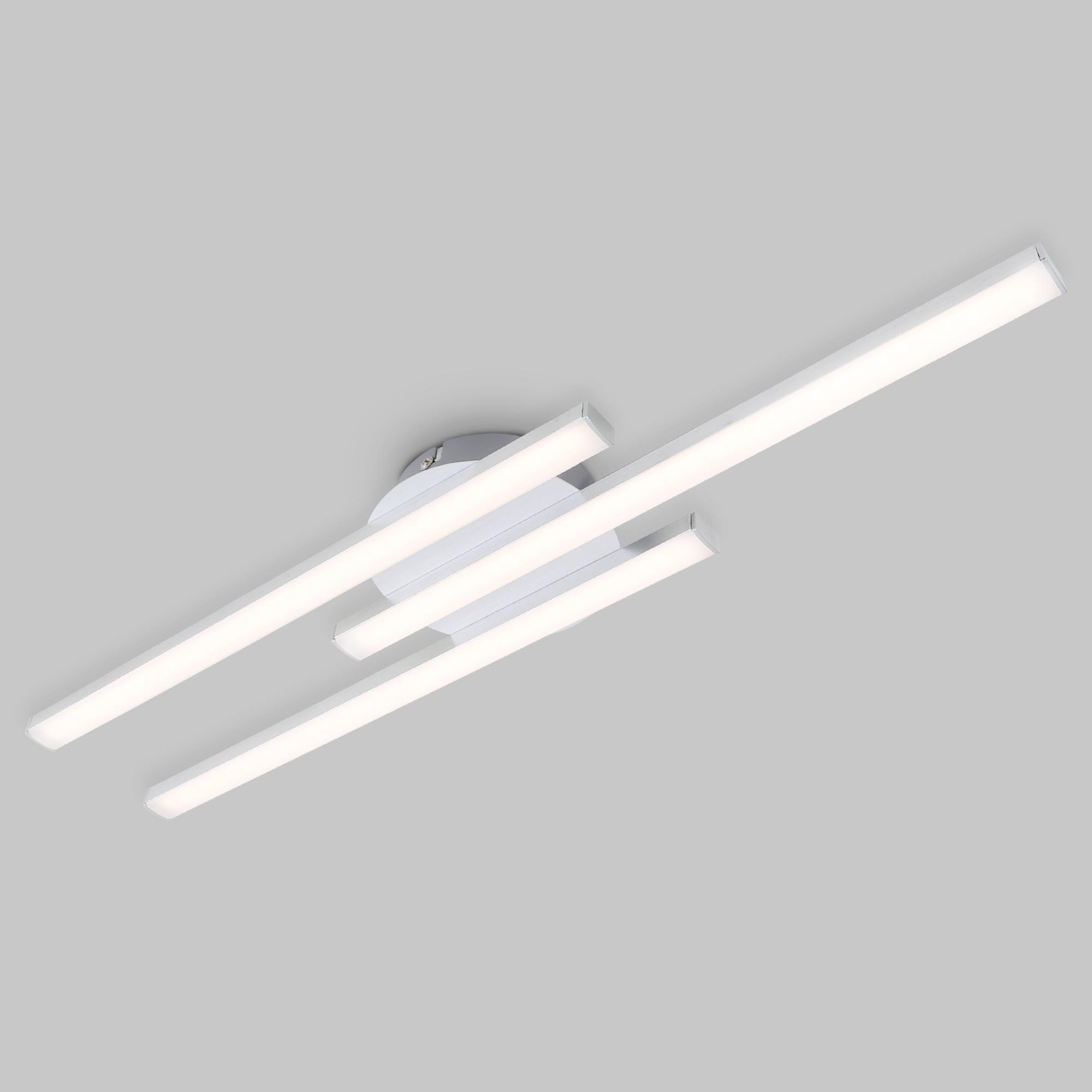 LED Wand- und Deckenleuchte, 56,5 cm, 18 W, Alu