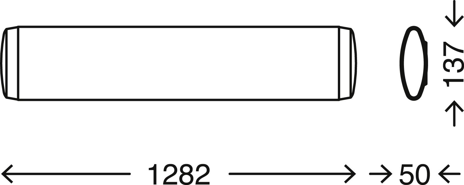 TELEFUNKEN LED Deckenleuchte, 128,2 cm, 23 W, Weiß