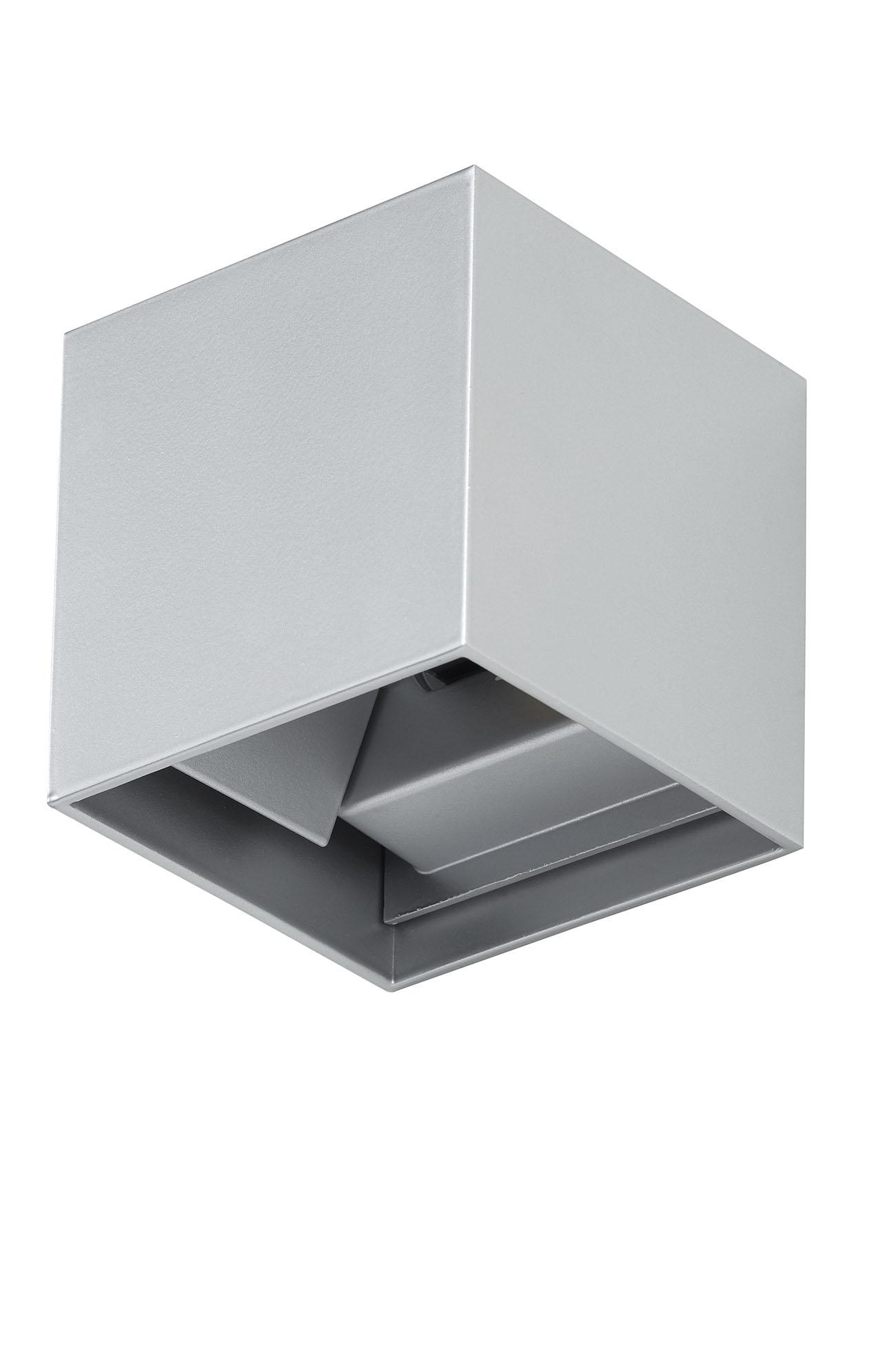 TELEFUNKEN LED Aussenwandleuchte, 11 cm, 7 W, Silber