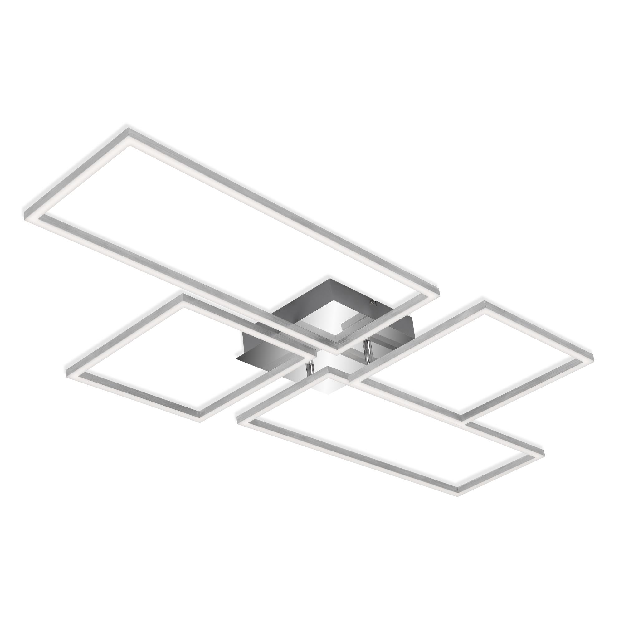 CCT LED Deckenleuchte, 110 cm, 5500 LM, 55 W, Alu-Chrom