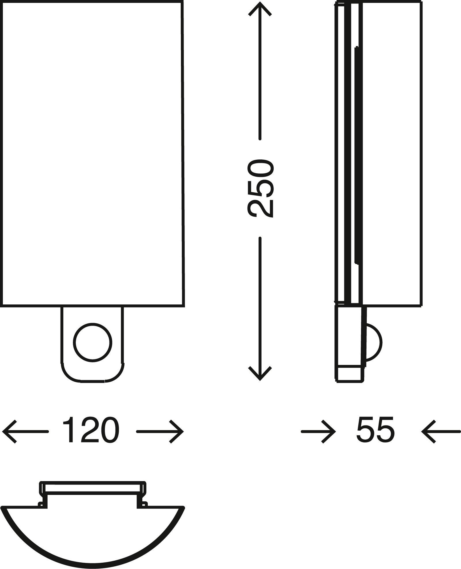 TELEFUNKEN Sensor LED Aussenleuchte, 25 cm, 7,5 W, Silber