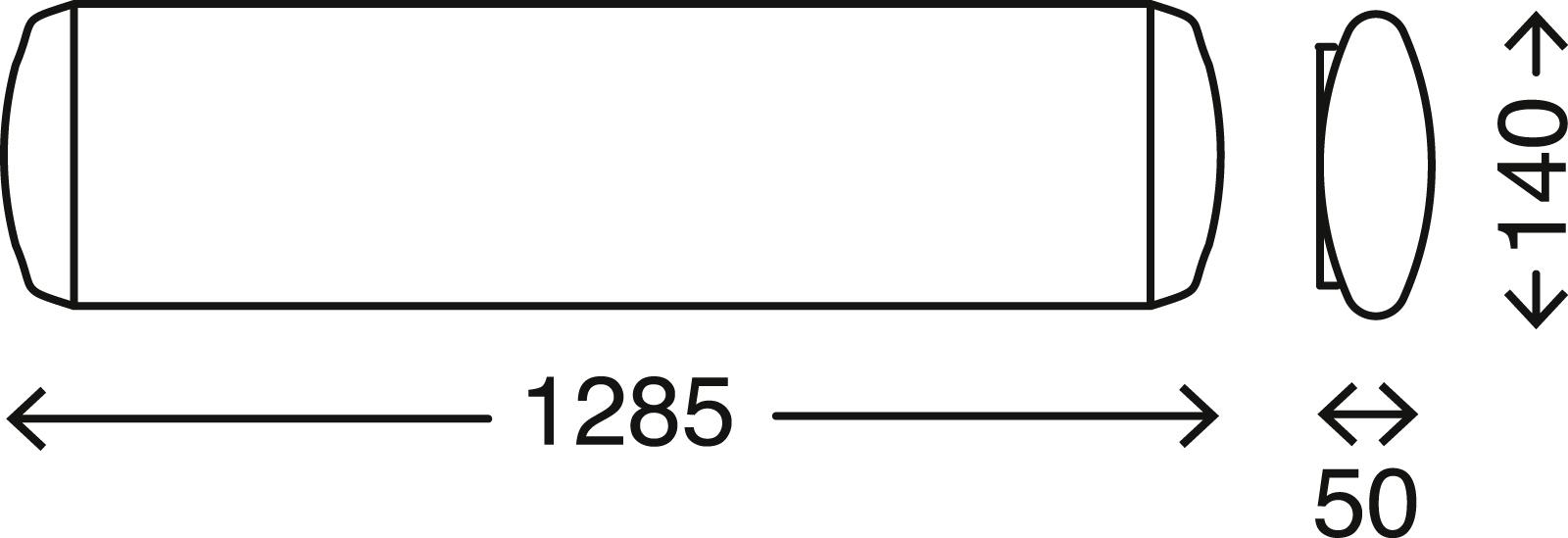 TELEFUNKEN LED Deckenleuchte, 128,5 cm, 23 W, Weiß