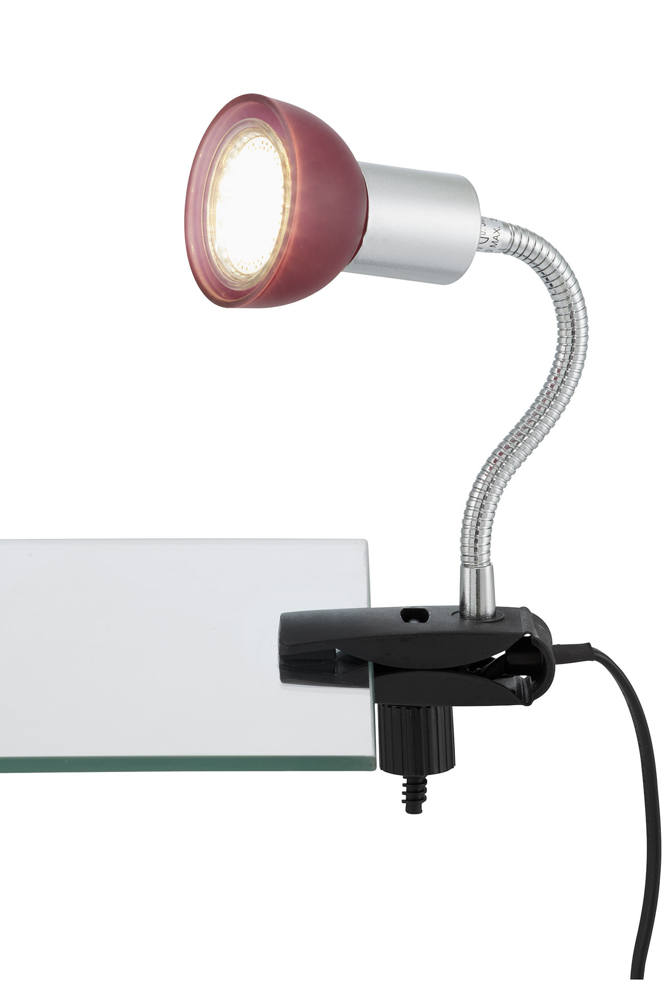 LED Klemmleuchte, 9 cm, 3 W, Titan-Rot