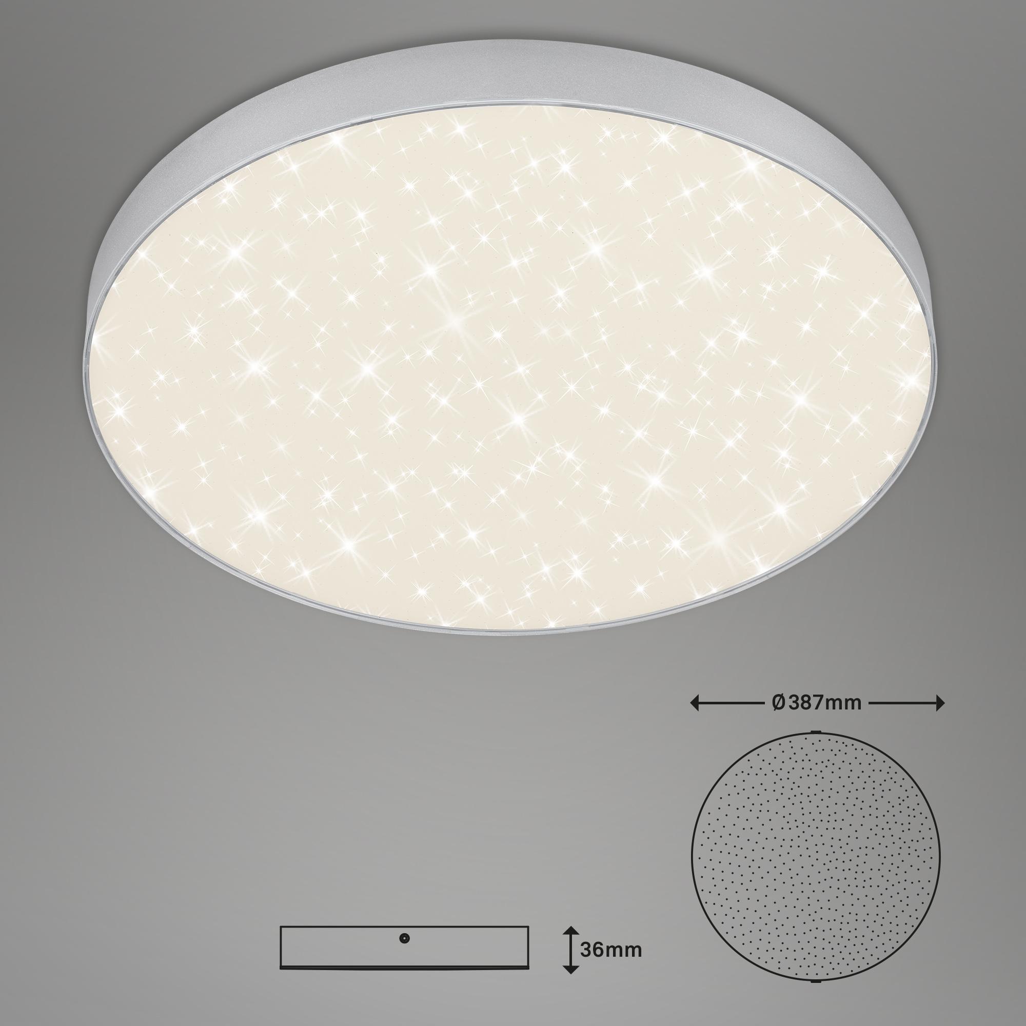 STERNENHIMMEL LED Deckenleuchte, Ø 38,7 cm, 24,5 W, Silber