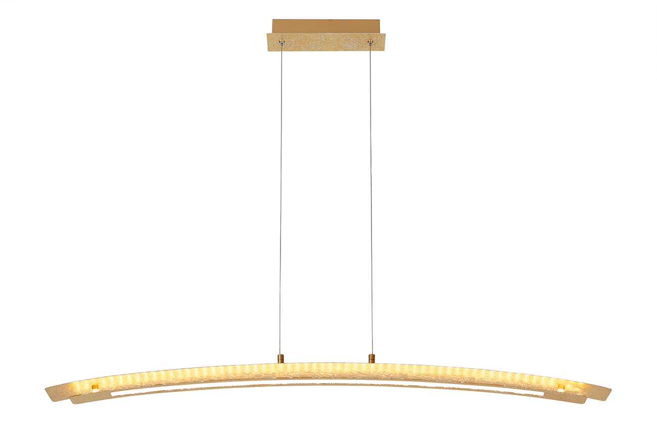 LED Pendelleuchte, 110 cm, 18 W, Gold